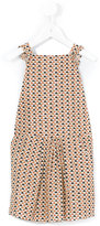 Emile et Ida sleeveless triangle print dress - kids - Cotton/Lurex - 2 yrs
