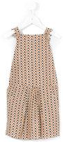 Emile et Ida sleeveless triangle print dress - kids - Cotton/Lurex - 2 yrs