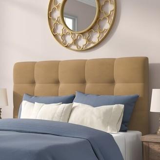 Winston Porter Callis Upholstered Panel Headboard Upholstery: Premier Saddle, Size: King