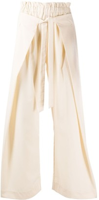 Cult Gaia Layered Wide Leg Trousers
