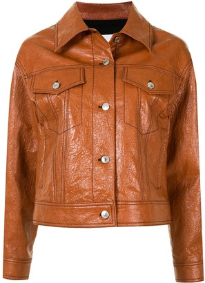 MSGM Coated Denim Jacket
