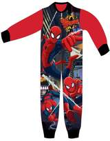 Spiderman Boys Licensed Micro Fleece Onesies Age 3 to 8 Years