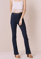 Missy Empire Brittany Indigo Denim Mid Rise Flared Jeans