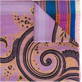 Etro striped scarf - women - Silk/Cotton/Polyester - One Size