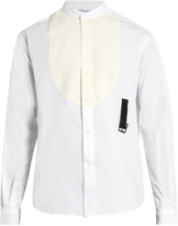 J.W.Anderson Band-collar bib-front cotton shirt