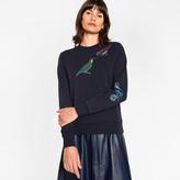 Paul Smith Women's Navy Cotton Sweatshirt With 'Bird' Print