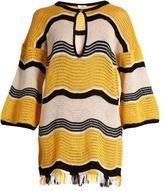 Fendi Wave-stripe crochet dress