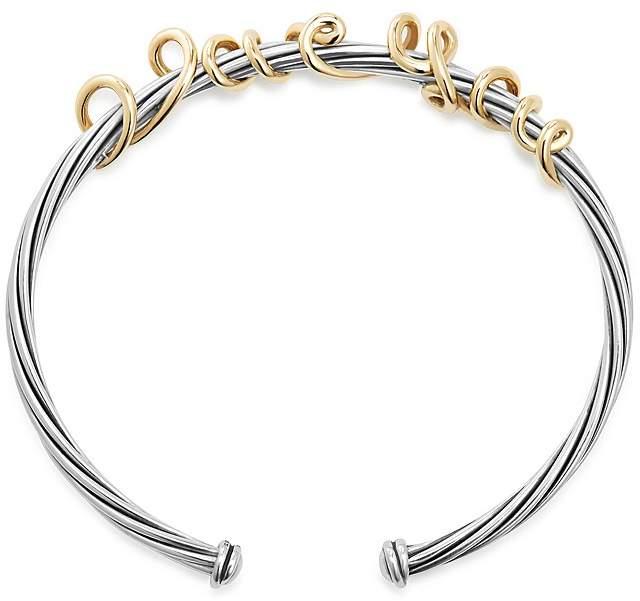 David Yurman DY Whispers I Love You Cuff Bracelet
