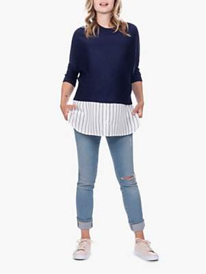 Séraphine Lyla Nursing Knit Shirt Jumper, Navy