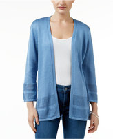 JM Collection Petite Open-Front Cardigan, Only at Macy's