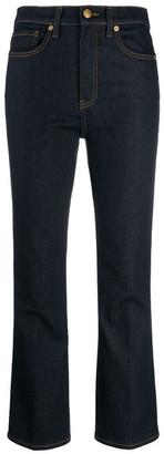 Tory Burch Cropped Boot Cut Denim Jeans
