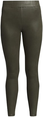 L'Agence Rochelle High-Rise Coated Skinny Leggings