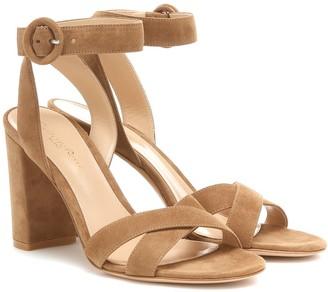 Gianvito Rossi Frida 85 suede sandals