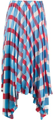 Issey Miyake Pleated Asymmetric Skirt