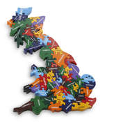 Wood Like To Play Handmade Wooden Map Of Britain Puzzle