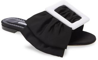 Manolo Blahnik Flariabi Buckle Bow Slide Sandal