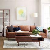 "west elm Axel Leather Sofa (89"")"