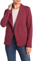 Caslon Knit Drape Collar Blazer (Regular & Petite)