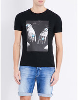 Replay Hands And Rings Cotton-jersey T-shirt