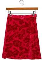 Rachel Riley Girls' Floral Devoré Skirt