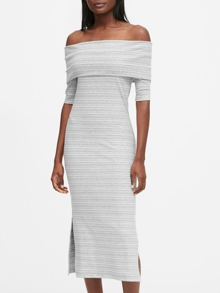 Banana Republic Ribbed Off-the-Shoulder Dress