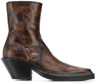 Acne Studios Distressed Finish Ankle Boots