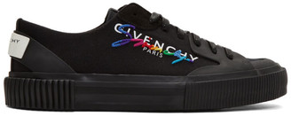 Givenchy Black Signature Low Light Tennis Sneakers