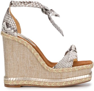 Alexandre Birman Clarita Square wedge sandals