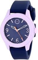 "ESQ by Movado ESQ Movado Women's 07101452 ""One"" Stainless Steel Watch with Navy Silicone Band"