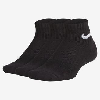 Nike Big Kids' Cushioned Ankle Socks (3 Pairs Everyday