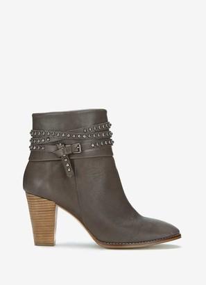 Mint Velvet Jade Grey Nubuck Studded Boots