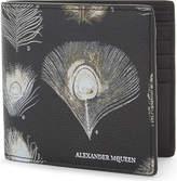 Alexander Mcqueen Textured Peacock Leather Wallet