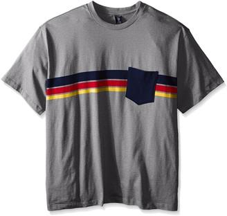 U.S. Polo Assn. Men's Big-Tall Chest Stripe Crew Neck Pocket T-Shirt