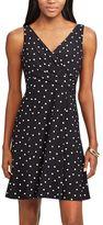 Chaps Women's Polka-Dot Fit & Flare Dress
