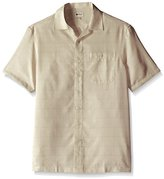 Haggar Men's Big-Tall Short Sleeve Textured Microfiber Woven Shirt,,