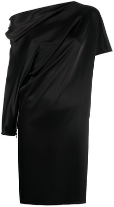 Gianluca Capannolo Off-Shoulder Long Sleeve Asymmetric Dress