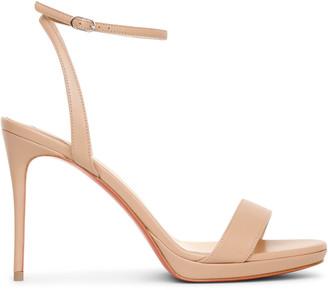 Christian Louboutin Loubi Queen 100 nude sandals