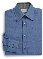Brioni Solid Cotton Sportshirt