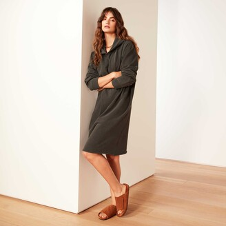 James Perse French Terry Hooded Raglan Dress