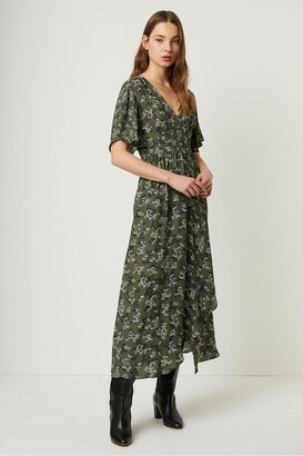 French Connection Ansa Crepe Mix Print Maxi Dress