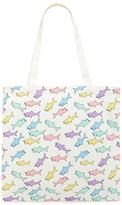 Forever 21 Shark Print Eco Canvas Tote
