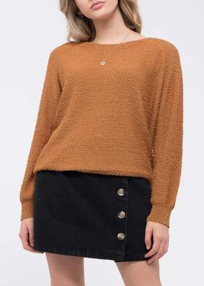 Blu Pepper Raglan Sleeve Popcorn Sweater