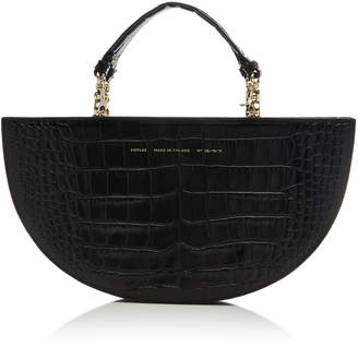 Chylak Croc-Effect Leather Shoulder Bag