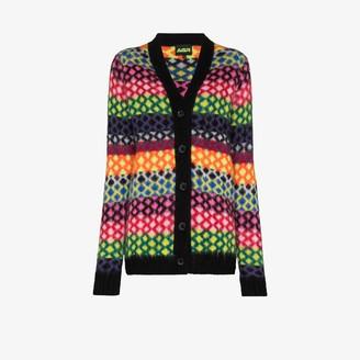 AGR Diamond Stripe Knit Cardigan