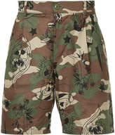 Hysteric Glamour camouflage cargo shorts
