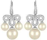 Majorica Simulated Pearl Pavé Drop Earrings