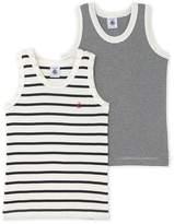 Petit Bateau Pack of 2 boys striped vest tops