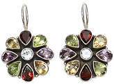 """Novica Artisan Crafted Sterling """"India Blossoms"""" Gem Earrings"""