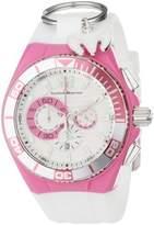 Technomarine Cruise Locker Women's Quartz Watch with White Dial Chronograph Display and White Nylon Strap 112014