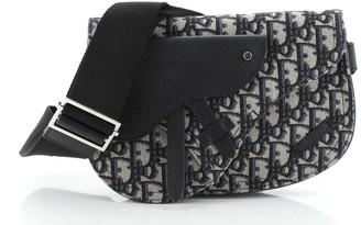Christian Dior Saddle Messenger Bag Oblique Canvas
